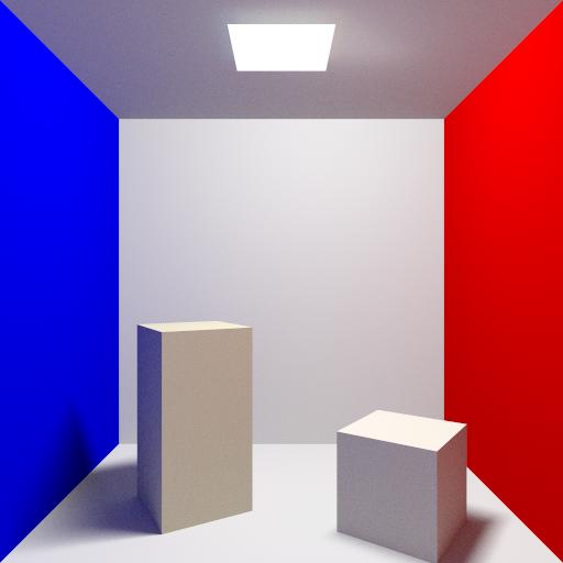 Cornell box - 1024 rays per pixel