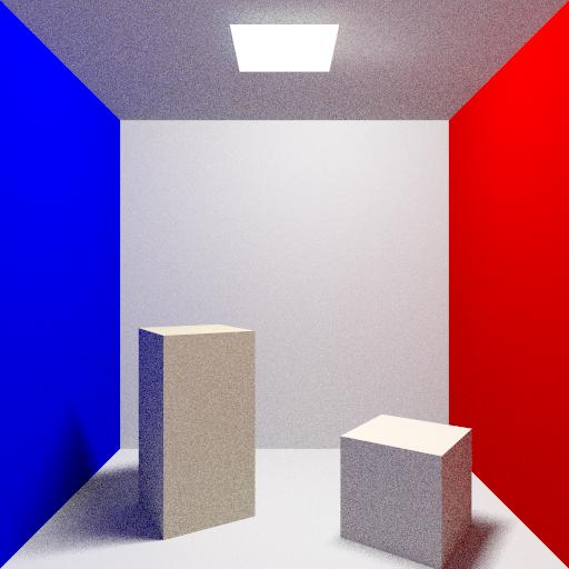 Cornell box - 64 rays per pixel