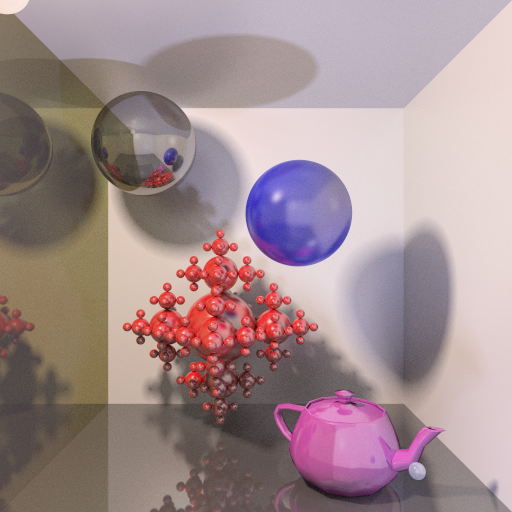 Full global illumination with gamma correction