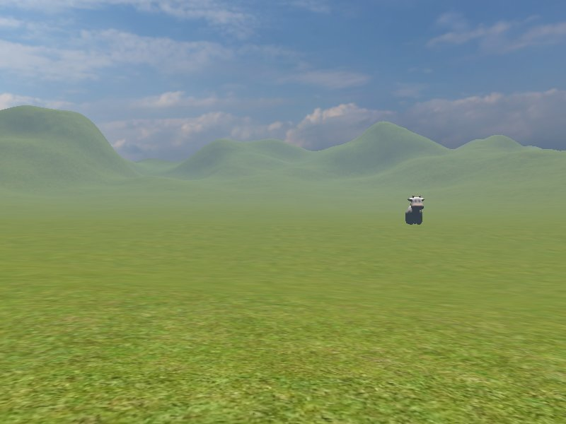 terrain with fog