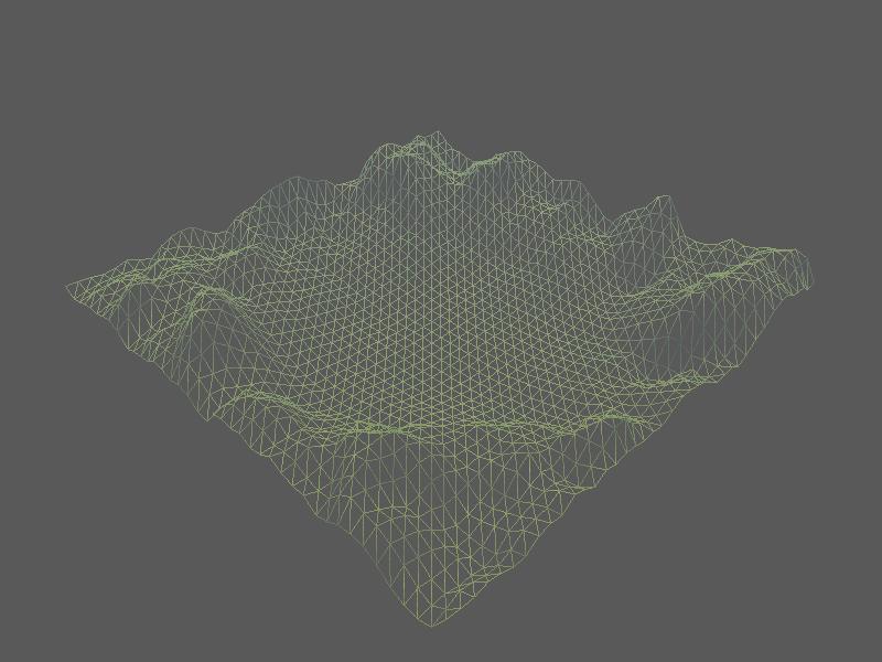 wireframe terrain