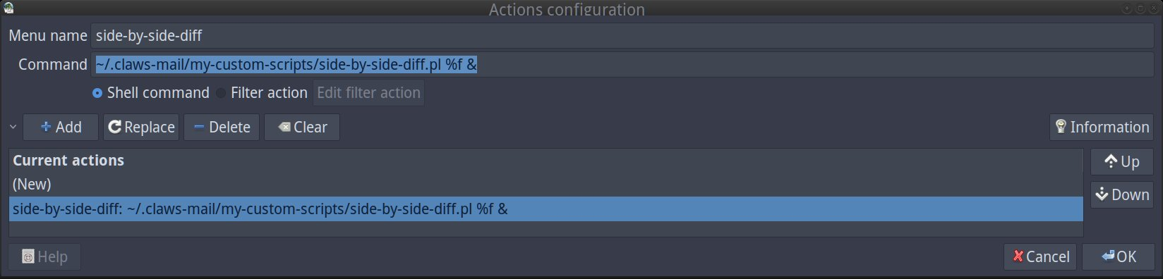 creating action for side-by-side-diffs